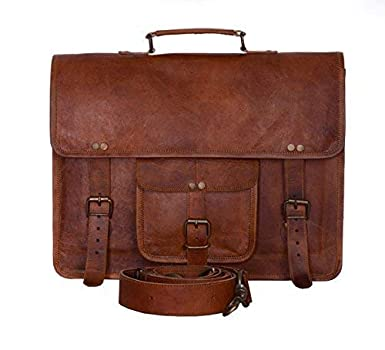 b2aab89387a7 Image Unavailable. Image not available for. Color  Komal s Passion Leather  Vintage 15 Inch Laptop Messenger Bag briefcase Satchel for Men ...