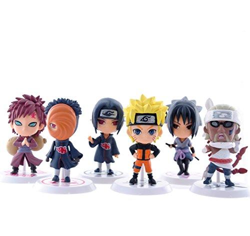 Naruto Action Figures Itachi Sasuke Obito Gaara Killer B PVC Doll Toys 6pcs/set