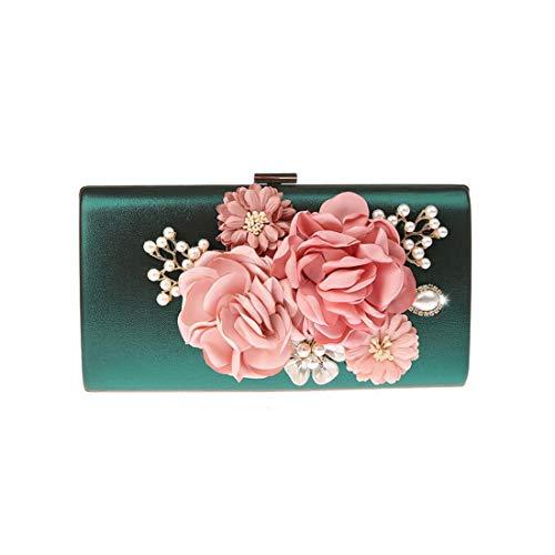 EPLAZA Women Large Capacity Flora Evening Party Bags Clutch Purse Vintage Wedding Handbags Wallet (light ()