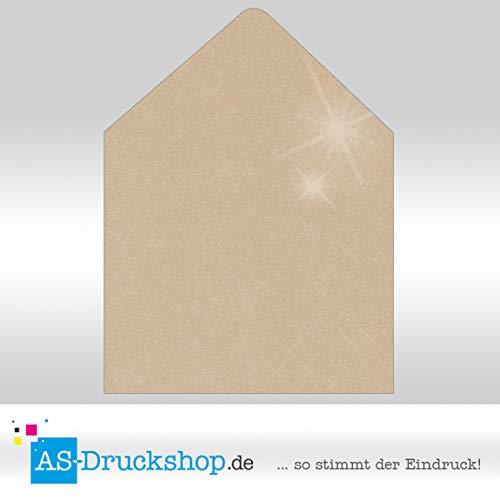 Briefumschlag KuGrün - Taupe metallic - mit Seidenfutter Quadrat - - - 164 x 164 mm   100 Stück B0794ZB3HL | Erste in seiner Klasse  8f69db