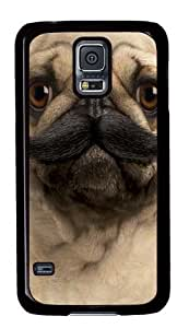 Big Face Pugstache Custom Samsung Galaxy S5/Samsung S5 Case Cover Polycarbonate Black