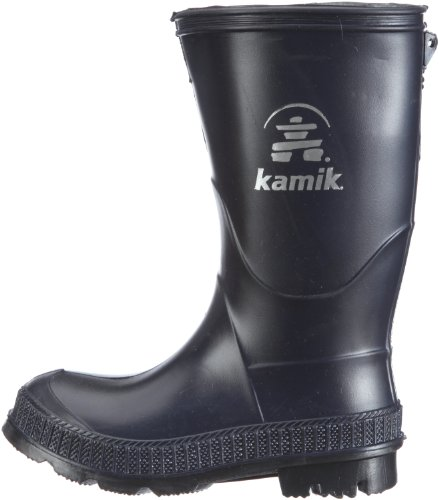 Kamik Stomp Rain Boot (Toddler/Little Kid/Big Kid),Navy/Black,3 M US Little Kid