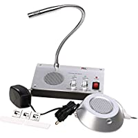 UHPPOTE Dual-Way Anti-interference Noise-Free Bank Office Store Station Window Microphone Audio Record Output Intercom Interphone Speaker System for Counter
