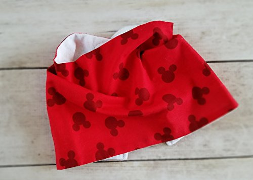 Gender Neutral Mickey Mouse Baby Bib Infinity Scarf (Mickey Mouse Baby Shower Ideas)
