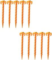 SIMYJOY Canopy Stakes Tent Pegs Beach Tent Stakes Heavy Duty Screw Shape Durable Strong Plastic Peg Outdoor Ca