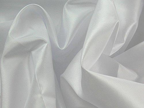 Plain Shot Taffeta Dress Fabric White - per metre