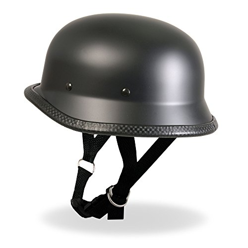 Hot Leathers German Style Novelty Helmet (Matte, - Helmet Leather Novelty