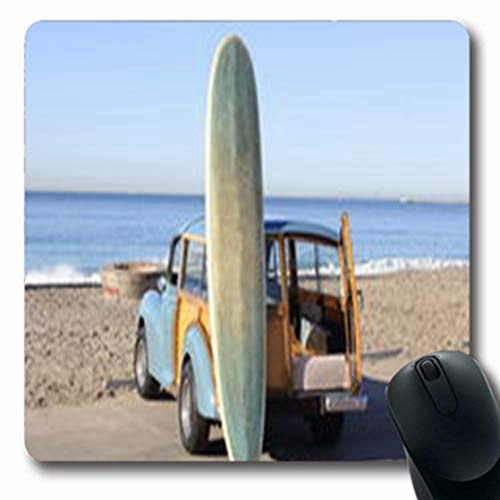 Pandarllin Mousepads with Woody Beach Southern Surfboard California Parks Outdoor Pacific Oblong Shape 7.9 x 9.5 Inches Oblong Gaming Mouse Pad Non-Slip Rubber Mat ()