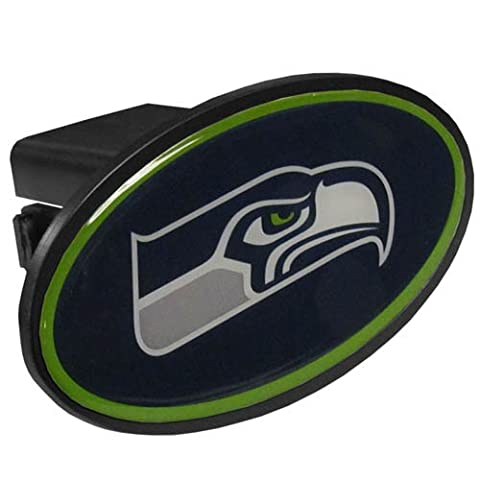 NFL Seattle Seahawks Plastic Logo Hitch Cover, Class III - Trailer Hitch Cover