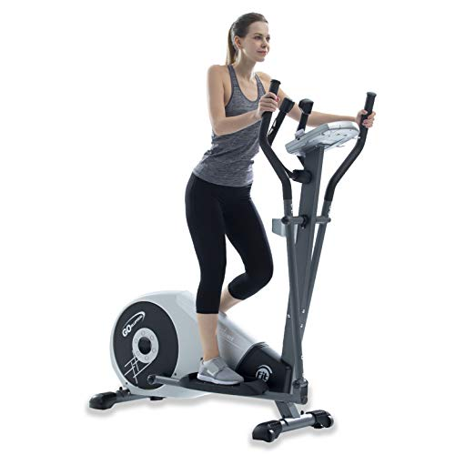 GOELLIPTICAL V-200T Standard Stride 17″ Programmable Elliptical Exercise Cross Trainer Machine for Cardio Fitness Strength Conditioning Workout at Home or Gym
