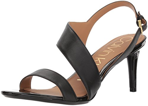 (Calvin Klein Women's Lancy Heeled Sandal Black 7 Medium US)