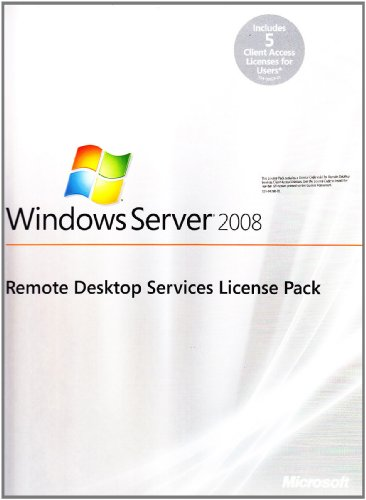 Microsoft Windows RDS Remote Desktop Services 2008 – 2008 R2 5 gebruikers-CAL's TS Terminal Services Server MS
