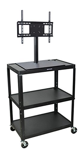 Luxor Lcd (LUXOR AVJ42XL-LCD A/V Cart and LCD Mount, Extra Wide Steel, Adjustable Height)