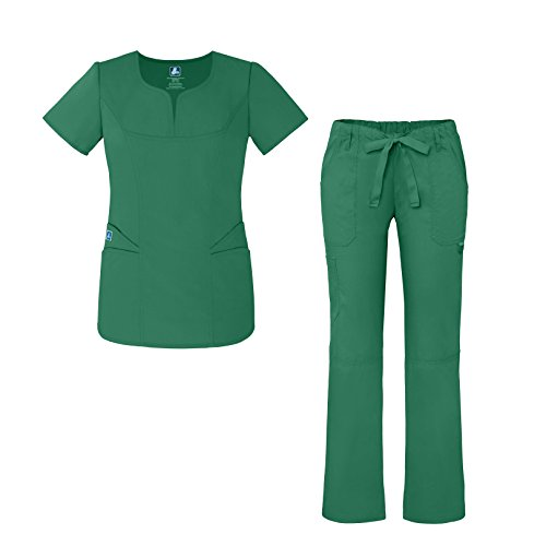 ebddd87fdb2 Universal Women's Scrub Set – Fashion Scrub Top and Multi-Pocket Scrub  Pants - 903