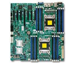 Supermicro Dual LGA2011/Intel C602/DDR3/SATA3/V&2GbE/EATX Server Motherboard X9DRH-7F-O ()