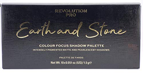 Makeup Revolution Pro Colour Focus Eyeshadow Palette, Black Earth Stone