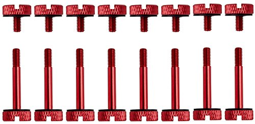 CORSAIR Crystal 570X Case Anodized Aluminum Thumbscrews- Red