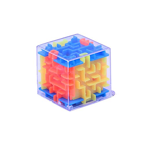 Sikye 3D Cube Maze Toy Brain Game Challenge Puzzle Toy Kids Educational Development Toy Relaxing