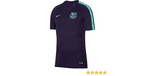 73b6d2e5f Amazon.com   Nike 2018-2019 Barcelona Training Football Soccer T-Shirt  Jersey (Purple)   Clothing