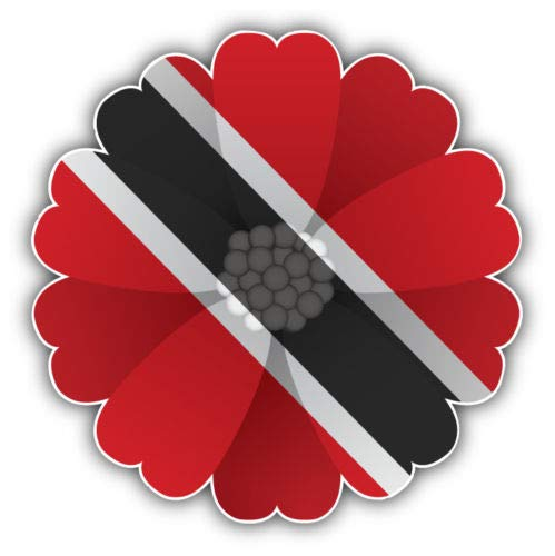 (Craftmag Trinidad and Tobago Flag Flower Vinyl Sticker Decal Outside Inside Using for Laptops Water Bottles Cars Trucks Bumpers Walls, 5