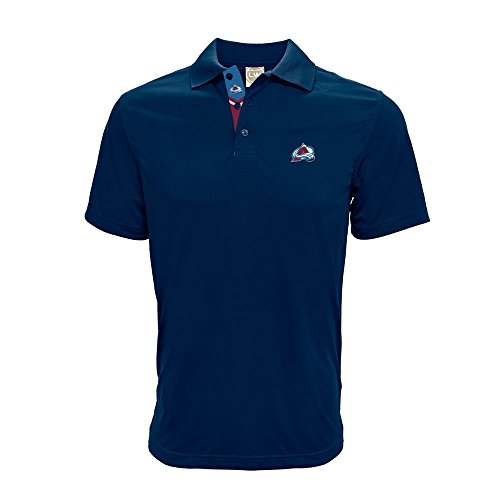- Levelwear NHL Colorado Avalanche Men's Helium II Team Banner Polo, Medium, Navy