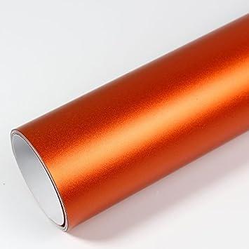 Rapid Teck® PREMIUM – MATT CHROM Orange 30cm x 1,52m Auto Folie ...