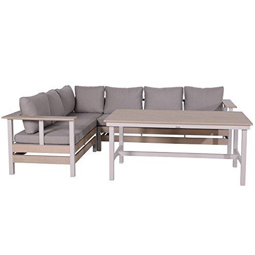 Garden Impressions Lounge Gruppe Toronto 4-teilige Sitzgruppe, vintage teak sand, 230 x 218 x 69 cm, 06085BR