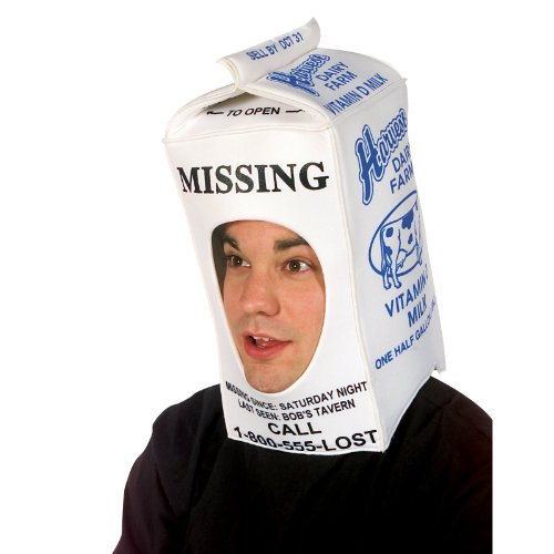 Best Funny Group Halloween Costumes (Rasta Imposta Milk Carton Hood, White, One)