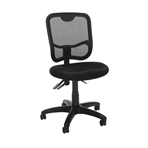 (OFM Comfort Series Ergonomic Mesh Mid Back Armless Task Chair, in Black (130-A05))