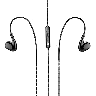 In Ear Earbuds, MXditect Sports Earphones with Heavy Bass Black