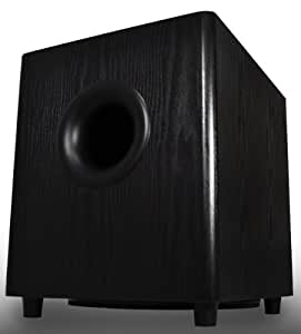 PS10 High Powered 10-Inch 175W Premium Home Theater Surround Sound Front-Firing Subwoofer, Black - OSD Audio