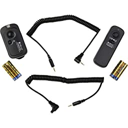 Vello FreeWave Plus Wireless Remote Shutter Release - 2.4GHz (for Canon) - Canon EOS: Elan series, Digital Rebel (300D), XT (350D), XTi (400D), XSi (450D), T1i (500D), T2i (550D), T3 (1100D), T3i (600D), T4i (650D), T5i (700D), SL1 (100D) and XS (1000D),