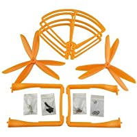 UUMART Propeller+Prop Guard+Landing Skid for Syma X8C X8W X8G X8HW RC Quadcopter Spare Parts Upgrade 3-Blade Propeller-Orange