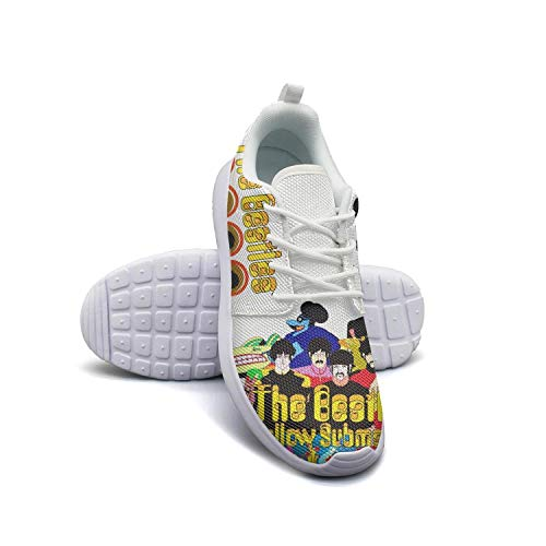 KDKASO The-Beatles-Yellow-Funny-Submarine-Logo-Womens Shoes Running Shoes Lightweight Sneakers Walking Shoes