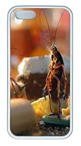 iPhone 5 5S Case April Fools Day Cockroaches Bread Kitchen TPU Custom iPhone 5 5S Case Cover White
