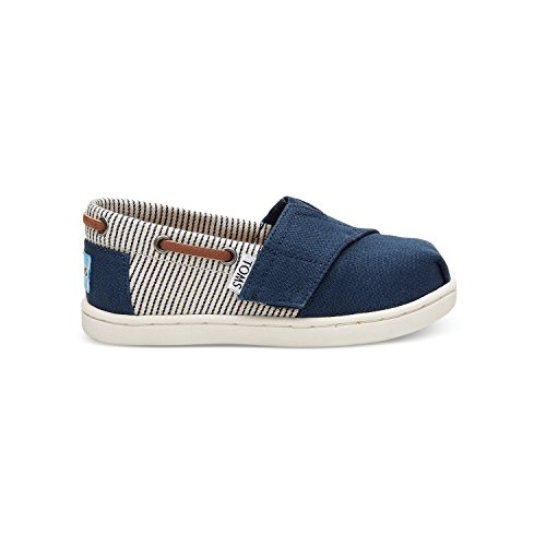 - TOMS Navy Canvas Stripes Tiny Biminis 10010048 (Size: 7)
