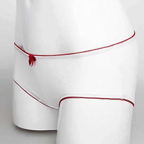 ZHFC-Señoras ropa interior de las mujeres cintura Briefs caja de regalo paquete de 2