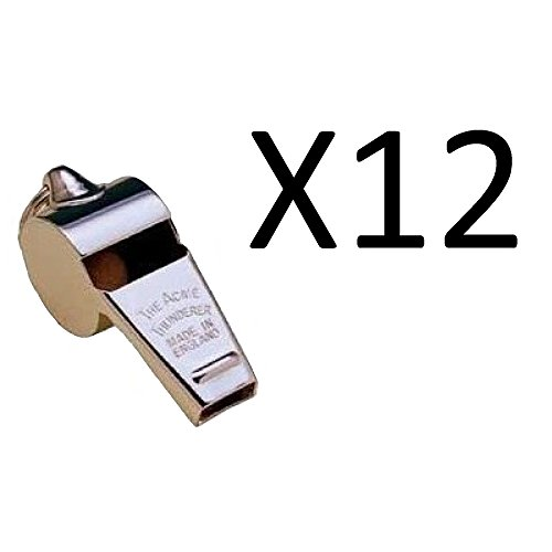 Acme Thunderer Metal Police Whistle Far Carrying Sound Referee/Coach (12-Pack)