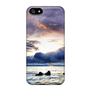 Premium Iphone 5/5s Case - Protective Skin - High Quality For Magnificent Sky Over Rocky Shore