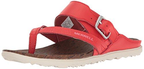 para Firey Red Thong Town Merrell Rojo Mujer Around Print Buckle Sandalias zYwHOqx