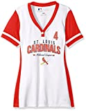 MLB St. Louis Cardinals Women's Rugged Competitor Pull Over Color Block Name & Number Player Jersey, Small, White/Athletic Red