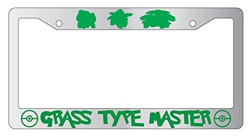 (Bulbasaur, Ivysaur, Venusaur Grass Type Master Chrome Metal License Plate Frame Pokemon -31 )