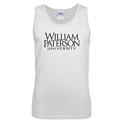 6f001c5bbb38 William Paterson White Tank Top  William Paterson University Stacked  -  Small