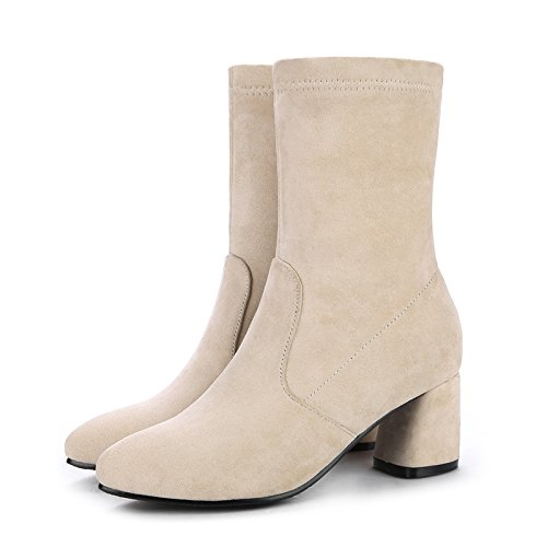 Show Point Casual Women's Shine Boots Ankle Chunky High Heel White Toe 7qP7xwrS