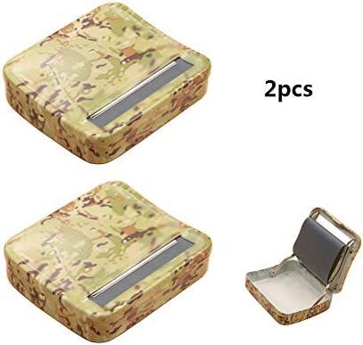 Nrolladora de Cigarrillos Manual,Portátil DIY Caja de Cigarrillos Manual de Metal Caja Semiautomática De Liar Cigarrillos Nrolladora de Cigarrillos Herramienta para Fumar,78mm: Amazon.es: Deportes y aire libre