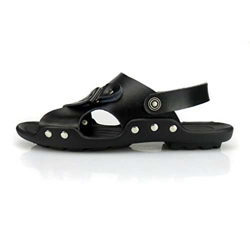 Casual Moda da Sandali Pelle Scarpe Uomo Spiaggia Black Traspiranti da in Scarpe Scarpe Pantofole estive alla Wwgx7q8FHR