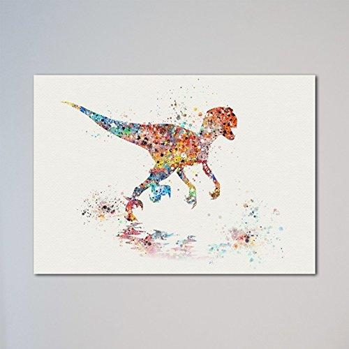 - Velociraptor Raptor Dinosaur Print