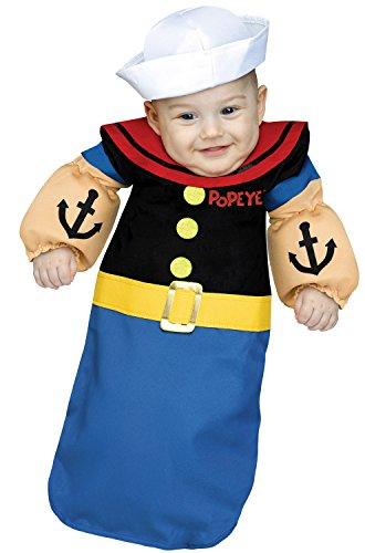 Child Popeye Costumes (Popeye Baby Bunting Costume)