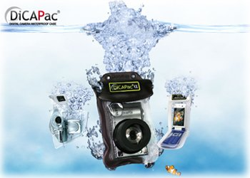 DicaPac WP510 185x118  mm Large Alfa Waterproof Digital Camera Case with Optical Lens (Clear)