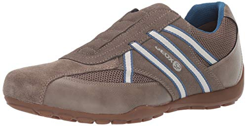 Geox Men's Ravex 4 Sneaker, Dove Grey 42 Medium EU (9 US)